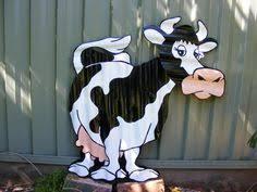 cow rustic corrugated iron garden ornament yard