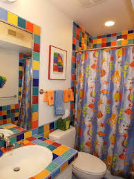 bathroom designs for kids with colorful tiles and ocean animals bathroom designs for kids with colorful tiles and ocean animals shower curtain