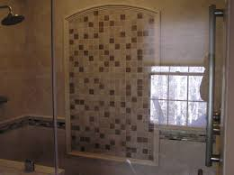 bathroom subway tile design ideas shower head and hand shower