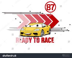 ready racevector car illustration comic car stock vector 403820143