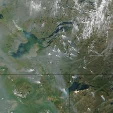 Canada Forest Fire Map by Forest Fires South East From Great Slave Lake Canada Seen From