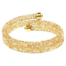 gold swarovski bracelet images Swarovski crystaldust golden crystal bangle 5237763 swarovski jpg