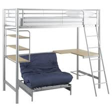 High Sleeper With Futon Buy Mika High Sleeper With Single Futon Grey From Our Metal Bed