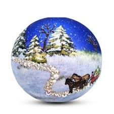 tree ornament painted winter 3d