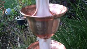 copper bells 3124 pure copper rain chain youtube