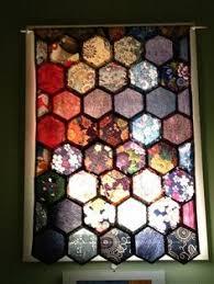 stained glass honeycomb clear textured glass hexagon suncatcher