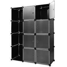 casier de bureau metal etagères armoire penderie noir rangement plastique 8 casiers 1 trin