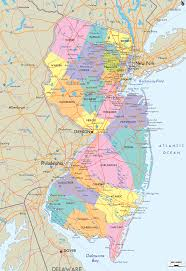 Map Of Usa States With Cities by Map Of State Of New Jersey With Outline Of The State Cities