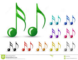 imagenes de notas musicales a color color music note stock illustration illustration of metal 18035458