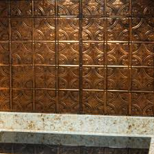 kitchen metal backsplash home depot panel kit in copper brushed