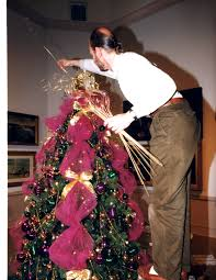 how to decorate a christmas tree with tulle fred gonsowski