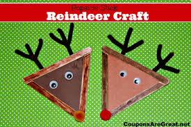 crafts for popsicle stick reindeer craft