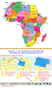 africa continent map africa continent powerpoint map countries names maps for design