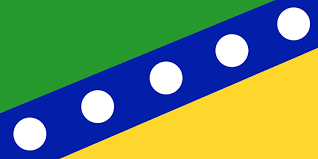 Blue Flag With Yellow Circle Library Of Babel Some Flags Of Regional Independence