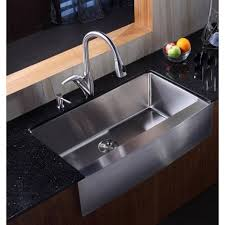 EModern Decor Ariel  X  Stainless Steel Single Bowl - Kitchen ss sinks