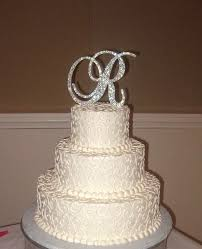 bling cake toppers bling wedding cake topper sparkle rhinestone monogram