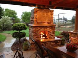 Outdoor Grill And Fireplace Designs - manificent design exterior fireplace good looking outdoor brick