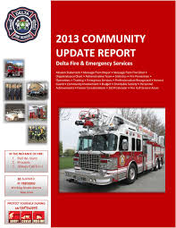 Wildland Fire Canada Conference 2014 by Delta Fire U0026 Emergency Services 2013 Community Update Report By