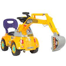 excavator halloween costume ride on excavator digger scooter pulling cart pretend play