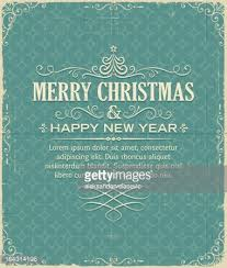 paper merry christmas on vintage christmas background vector art