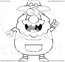 cartoon clipart of a black and white plump senior farmer with an