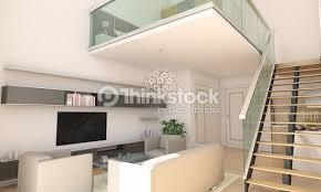 duplex home interior design minimalist duplex home living room interior design stock photo