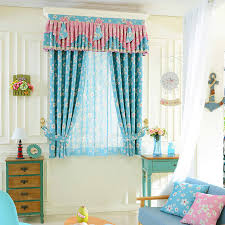 Nursery Valance Curtains Decorative Pastoral Floral Nursery Curtain Bay Window Curtain No