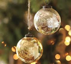 silver u0026 gold mercury glass ball ornaments set of 6 pottery