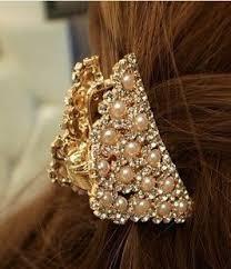 rhinestone hair smile pearl hair rhinestone hair claw created diamond