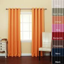 And Orange Curtains Decoration Cool And Multi Color Window Curtains With Orange
