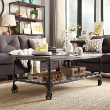 rustic coffee table with wheels industrial rustic coffee table with wheels collaborate decors