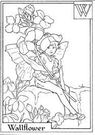 fairy printable colouring lily valley