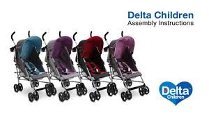 Disney Umbrella Stroller With Canopy by Delta Children Ultimate Stroller Assembly Video Youtube
