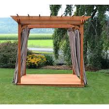 cedar pergola swing by backyard discovery bed stand sams club