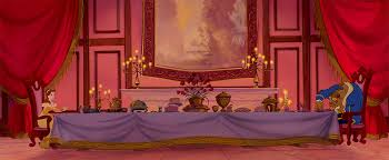 Things You Only Notice When You Watch Beauty And The Beast For The - Beauty and the beast dining room