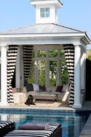 pool cabana ideas pool cabana ideas with black and white curtains patio beach style