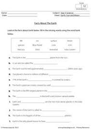 ideas of earth sun and moon ks2 worksheets for sheets