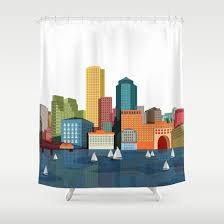 Boston Red Sox Shower Curtain Boston Shower Curtain Shower Curtain Rod