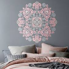 mandala stencil tribal pattern for diy wall decor modern home zoom
