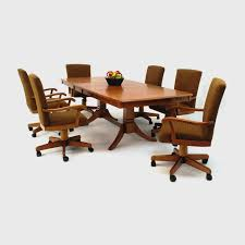 kitchen table and chairs with casters dining room chairs casters photogiraffe me