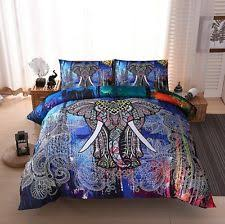 Elephant Print Comforter Set Bohemian Bedding Ebay