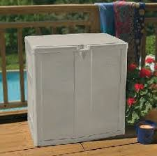 outdoor storage containers suncast deck box boxes