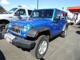jeep wrangler unlimited sport blue blue jeep wrangler in idaho for sale used cars on buysellsearch