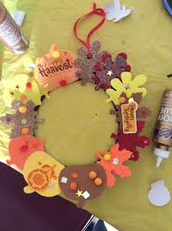 harvest fall wreath kids sunday craft michael u0027s sells a