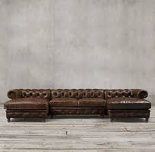 chesterfield sofa with chaise kensington rh