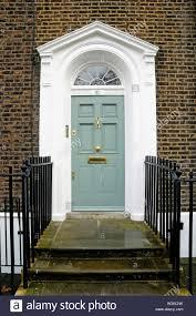 front door of georgian house highbury place islington london