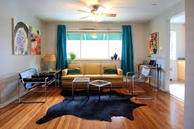 Cowhide Rug In Living Room Bathroom Ravishing Cowhide Rug Modern Living Room Manual