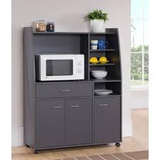 meubles cuisine kitchen desserte de cuisine l 100 cm gris mat achat vente