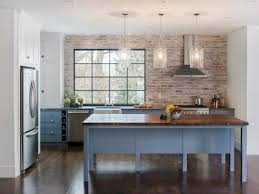 Wall Kitchen Cabinets Brick Kitchen Countertops Rectangle Brown Varnished Wooden Kitchen