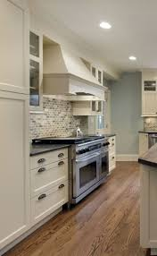 Black Subway Tile Kitchen Backsplash Kitchen Backsplash Contemporary Light Gray Countertops White
